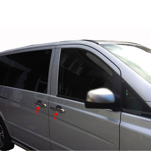 5st Chrome Deurhendels cover set Mercedes Vito W639 2003-2014 - slimshoppen
