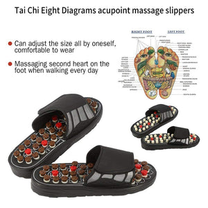 Voetmassage Slippers Acupunctuur Therapie Massage Schoenen Dames slippers sandal - slimshoppen