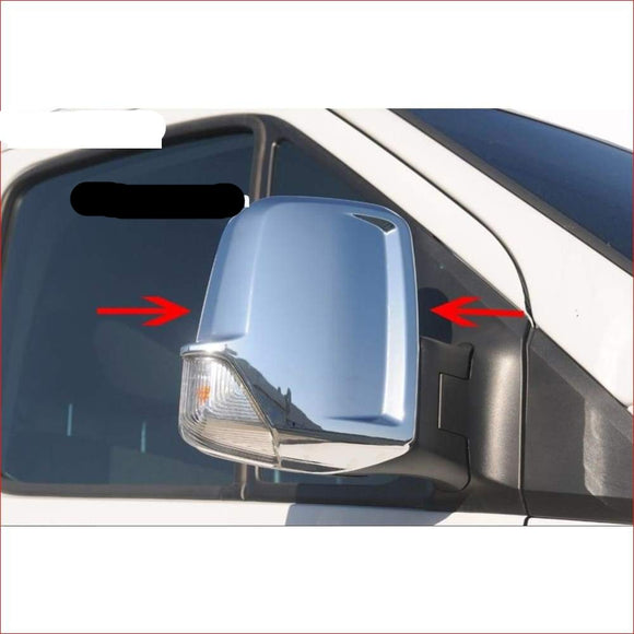 Spiegelkappen-mirror cover Mercedes Sprinter W906 mat of glans ABS chroom 2006-2017 - slimshoppen