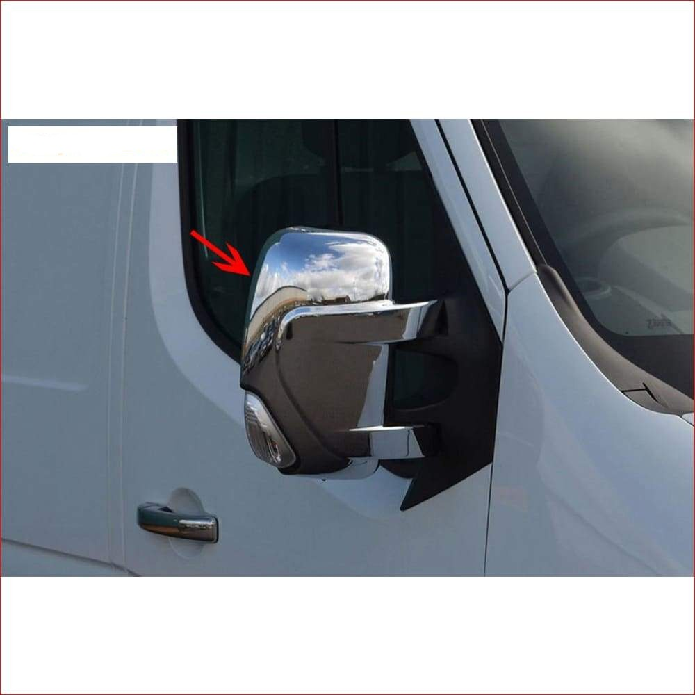 Spiegelkappen-mirror cover Renault Master glans ABS chroom 2010- - auto-accessoire