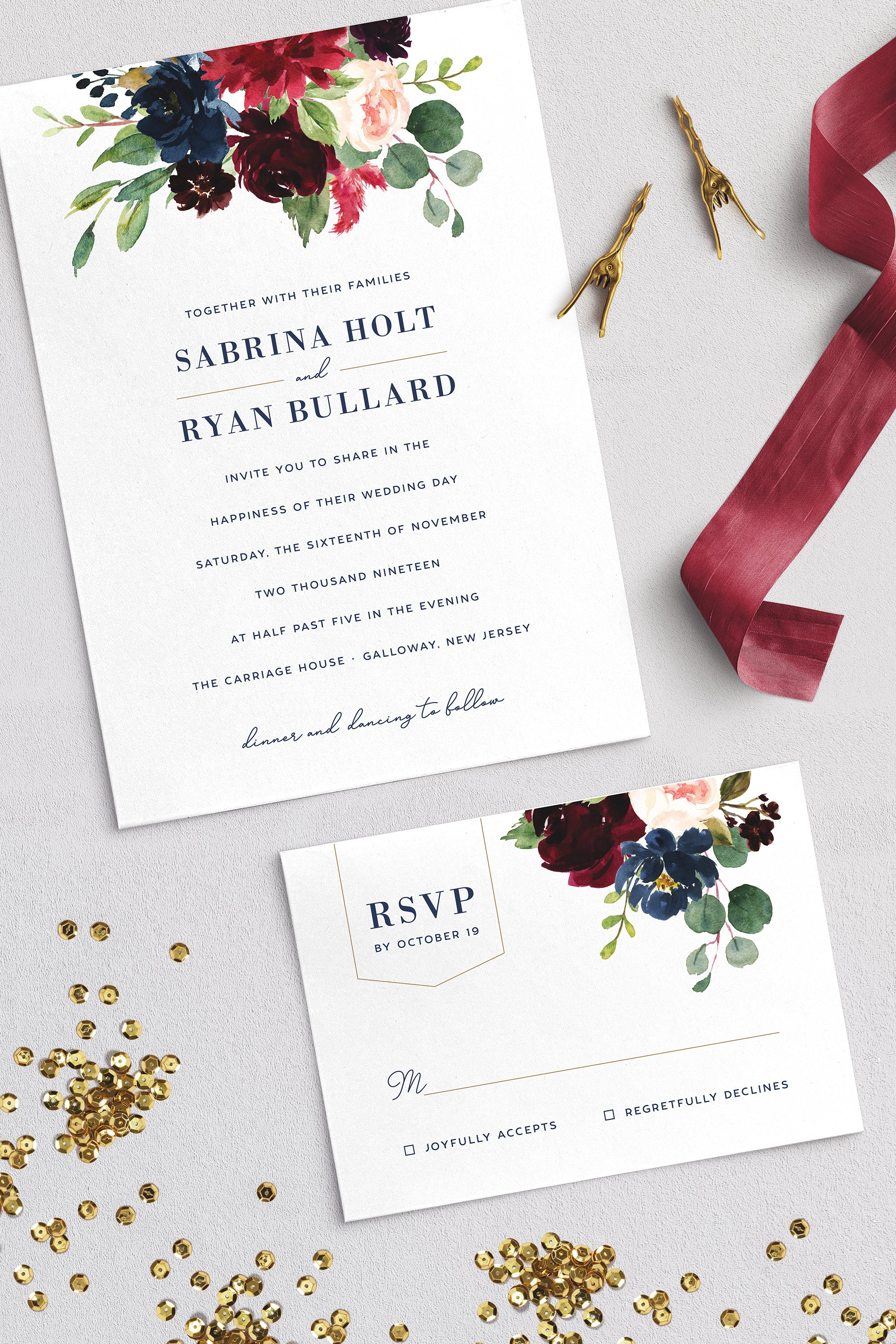 The Sabrina Suite | wedding invitation by Pulp Paper Goods | browse designs and order online at pulppapergoods.com