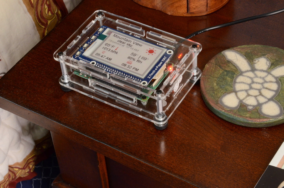 Weather Station with Raspberry Pi, ePaper Display and ProtoStax Enclosure