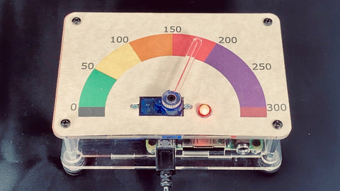 Air Quality Monitor with Retro Gauge Display