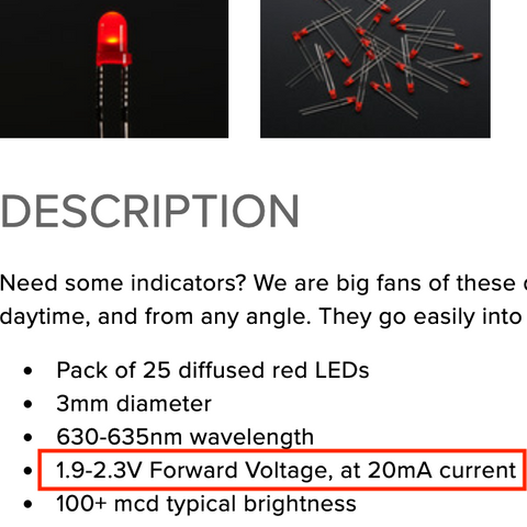 Red LED Product Page