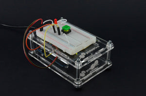 ProtoStax Enclosures - Vertically stacked Arduino on Bottom in Closed Configuration and Breadboard on top in Platform Configuration