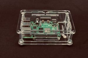 ProtoStax Enclosure for Raspberry Pi B+ / Model 4B - Fully Closed Configuration