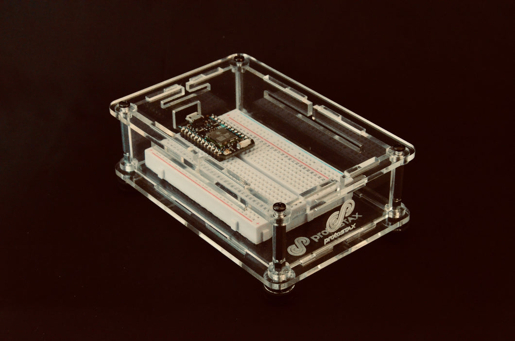 ProtoStax Enclosure for Breadboards/Custom - with Breadboard-friendly MCU (Particle Photon)