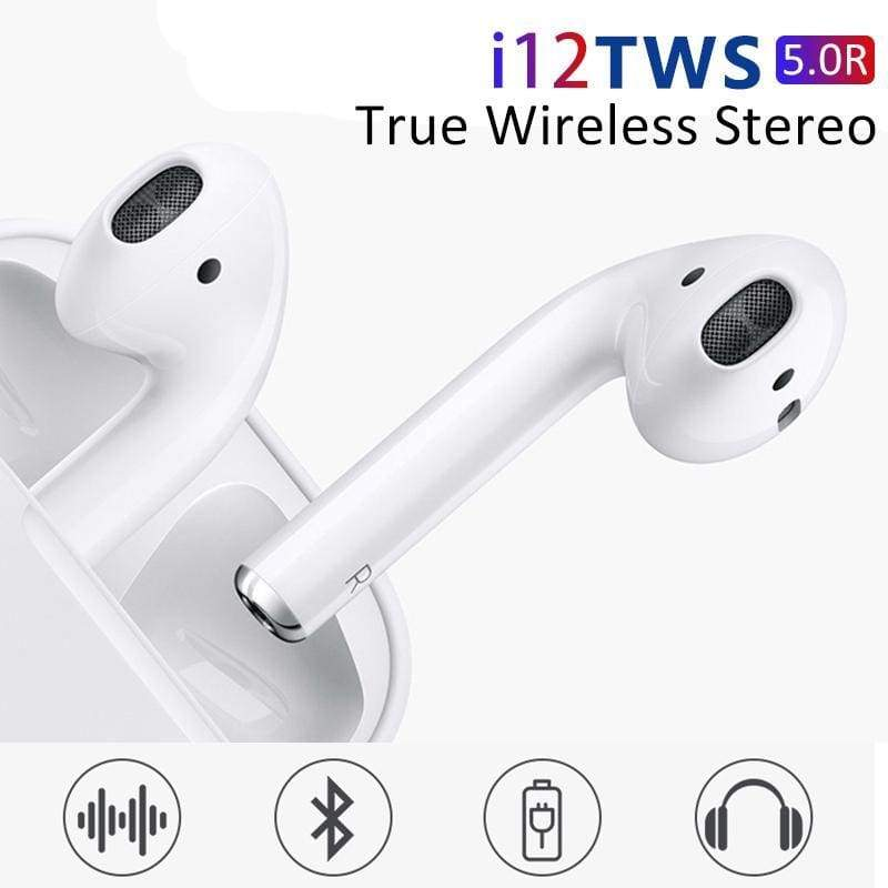 I12 TWS WIRELESS BLUETOOTH TOUCH CONTROL PODS, QUALITY GUARANTEE - ODDTOD