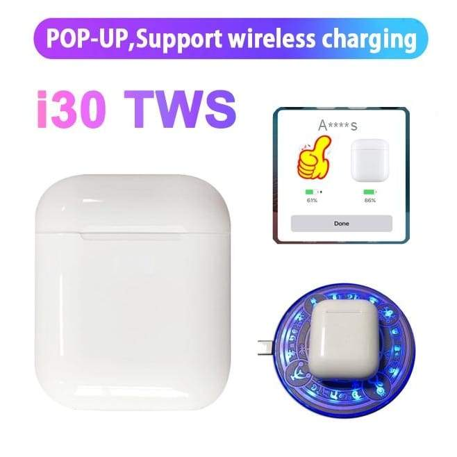 i30 TWS,  Wireless Charge Headphones For IOS/android, - ODDTOD