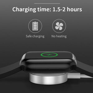 OUSU QI Wireless Charger For apple watch Magnetic Charger For iwatch 1 2 3 4 cargador with 1m usb Cable Fast Charging Station - ODDTOD