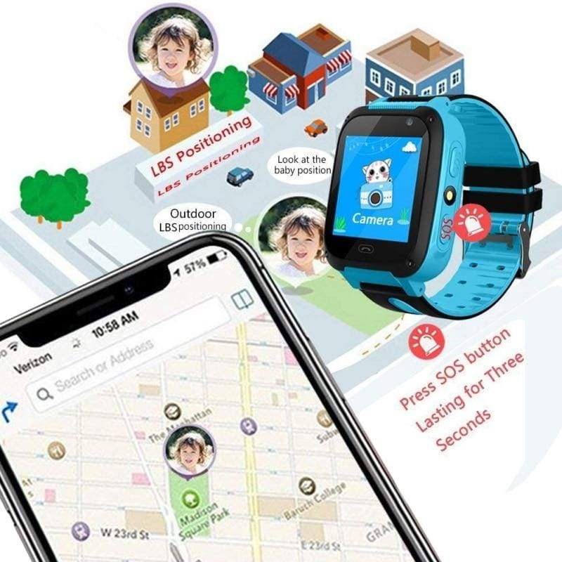 Smart Watch with GPS GSM Locator Touch Screen Tracker SOS for Kids Children, IOS & Android - ODDTOD