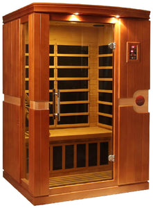 Dynamic Saunas Venice Edition DYN-6210-01 Low EMF Far Infrared 2 Person Sauna