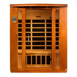 Dynamic Saunas Bellagio Edition DYN-6306-01 Low EMF Far Infrared 3 Person Sauna