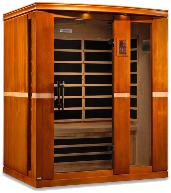 Dynamic Saunas Palermo Edition DYN-6330-01 Low EMF Far Infrared 3 Person Sauna