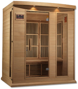 Maxxus MX-K306-01 Low EMF FAR Infrared Canadian Hemlock 3 Person Sauna