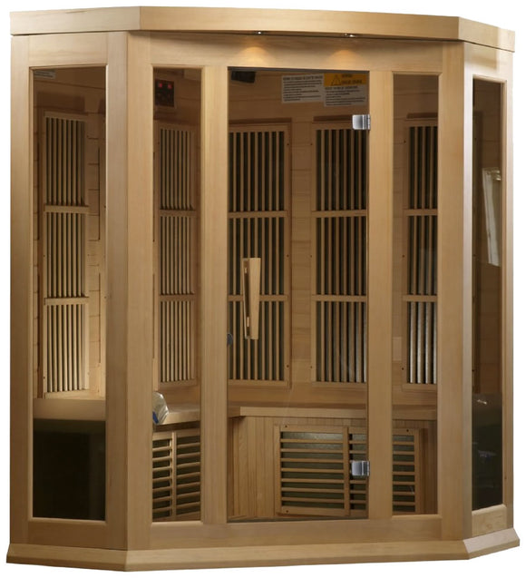 Maxxus MX-K356-01 Low EMF FAR Infrared Canadian Hemlock 3 Person Sauna