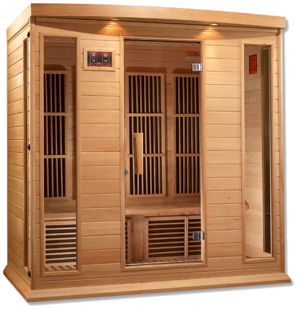 Maxxus MX-K406-01 Low EMF FAR Infrared Canadian Hemlock 4 Person Sauna