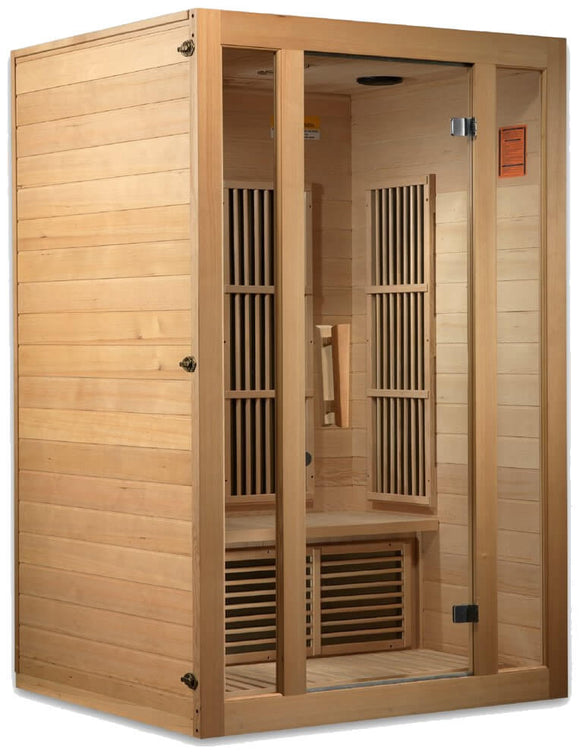 Maxxus Seattle Low EMF FAR Infrared Canadian Hemlock 2 Person Sauna