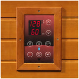 Maxxus Serenity Dual Tech Low EMF FAR Infrared Canadian Hemlock 2 Person Sauna