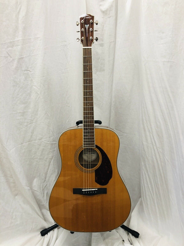Fender Paramount PM-1 Standard Nat Dreadnought Acoustic Electric Guitar W/ Case