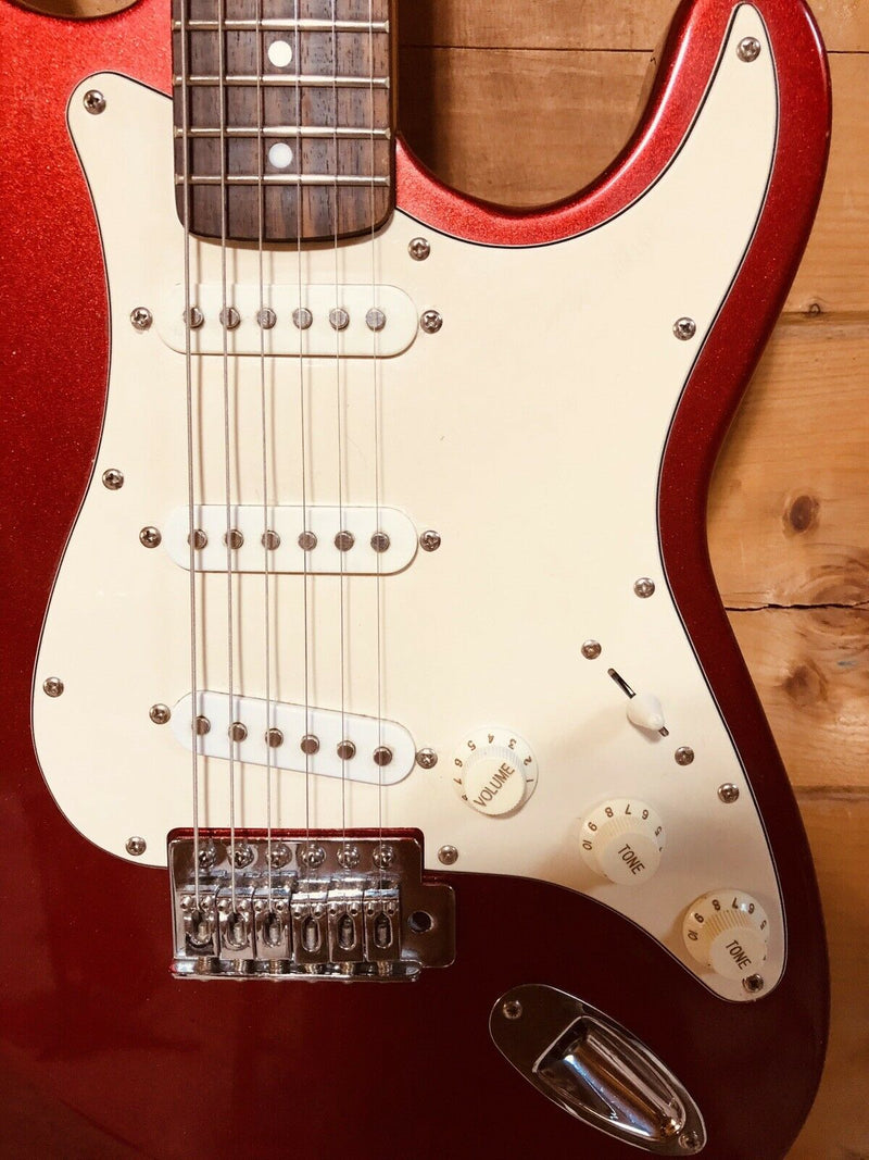 Red Strat Style Electric Guitar Fully Setup w/ Hard Case