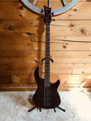 Dean E10APJ Black 4 String Bass Guitar With New Padded Gig Bag