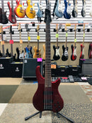 Fernandes Tremor Deluxe 5 String Red Bass Guitar Japan Made w/ New Strings & Bag