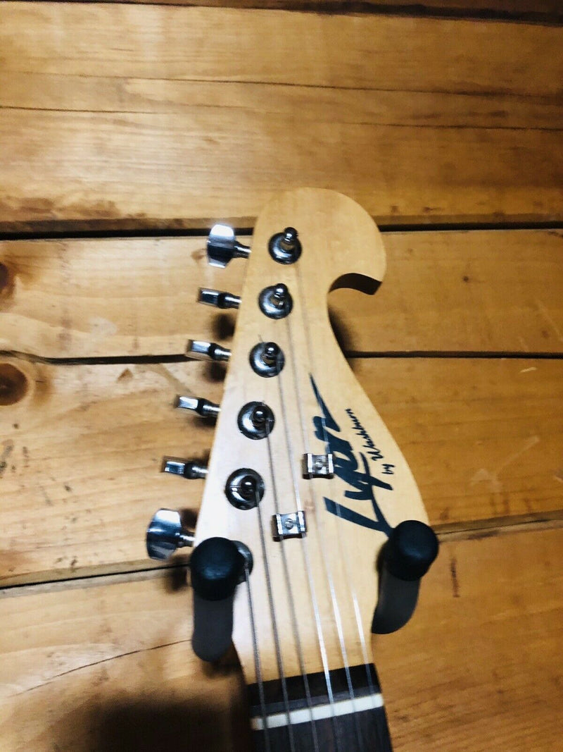 Lyon By Washburn Black Strat Style Electric Guitar