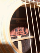 Yamaha Rare Red Label FG-300 Nippon Gakki Vintage Acoustic Guitar