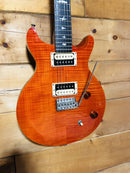 PRS SE Santana Flamed Orange Electric Guitar w/ Gig Bag