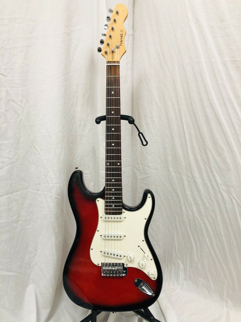 Mahar Strat Style Electric Guitar Red And Black