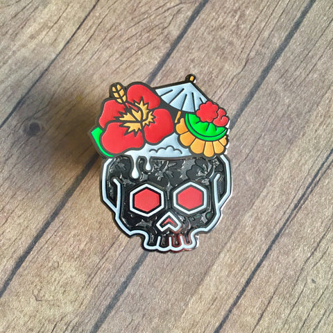 Black Noble Tiki pin
