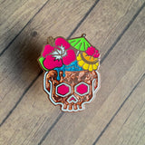 Rose Noble Tiki pin