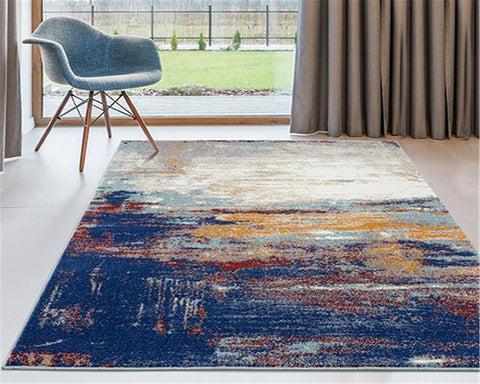 Luxe weavers contemporary area rug in a living room