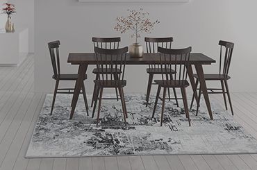 Luxe Weavers Area rug in a dining room