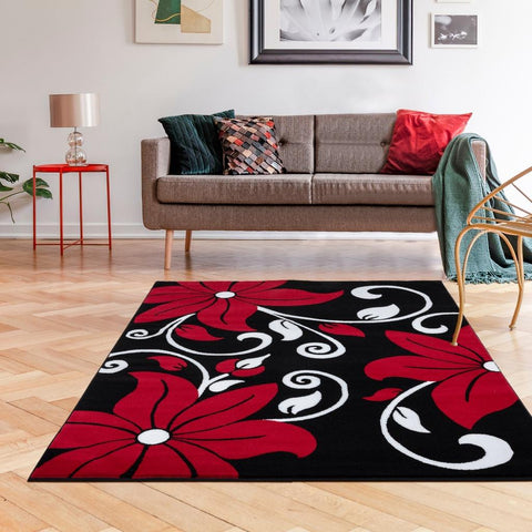Luxe weavers victoria collection contemporary area rug in a living room