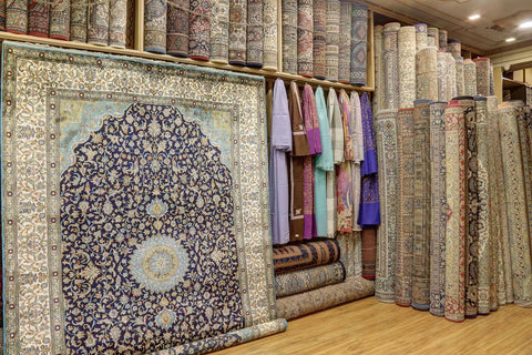 Stack of Oriental Area Rugs