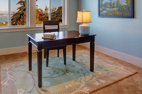 Home office rug in a room