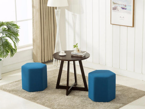 Luxe Weavers Ottomans and coffee table set