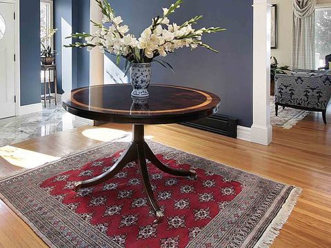 Traditional rug in a living room