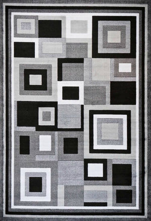 Abstract Gray Modern Area Rug
