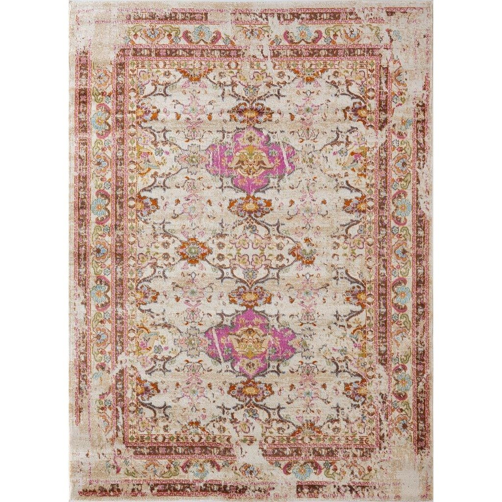 Multi-Colored Distressed Modern Bohemian Area Rug