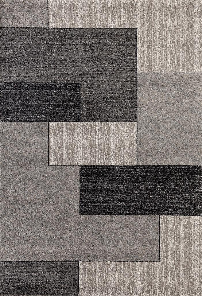 Geometric Gray Modern Abstract Area Rug