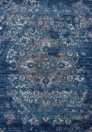Dark Blue Modern Abstract Area Rug