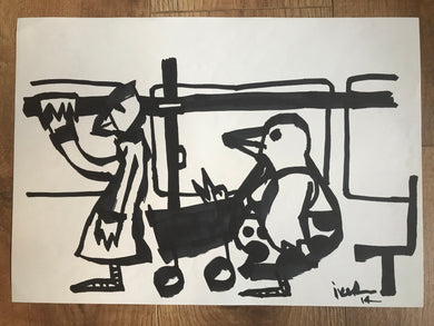 Commuters - Original drawing