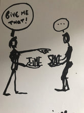 Contemporary discussions - Original drawing