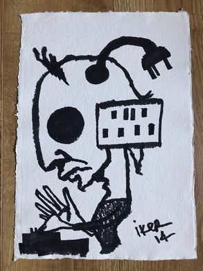 DJ Plug - Original drawing