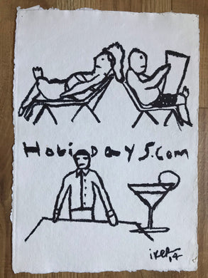 Holidays dot com - Original drawing
