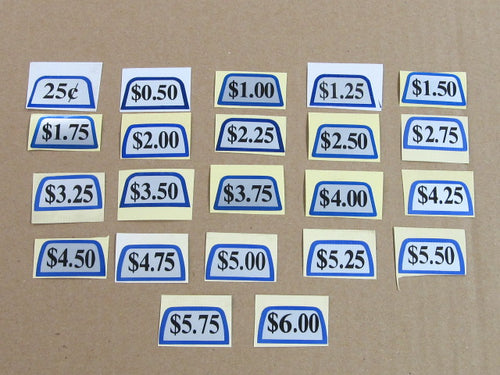 DECALS FOR COIN SLIDES SOLD AS EACH