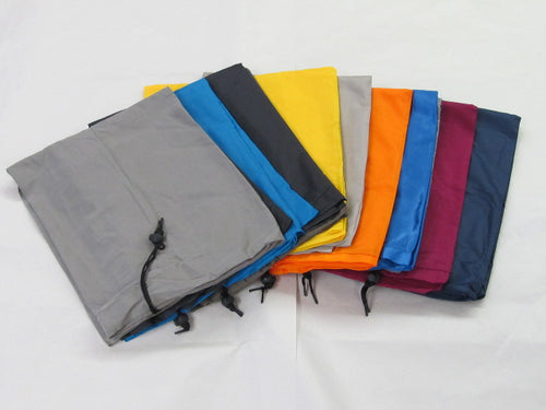 DOZEN OF NYLON BAGS 30 X 40 ASSORTED COLORS